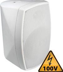 """Vægmonterings-højtaler ISPT6W 100V / 8 Ohm / 6.5"""" 150W, hvid"""