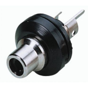 Phonobøsning sort T-706NI/SW
