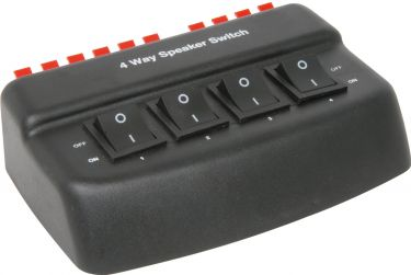 4-Way Loudspeaker Selector - black version