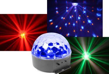 BeamZ Mini Star Ball RGBWA 6x3W LED Musikstyret - Flot stjerneeffekt!