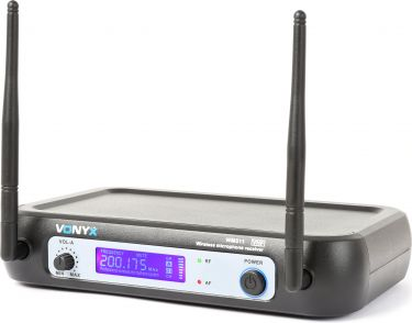 WM511 1-Channel VHF Wireless Microphone System with Handhelds and Display