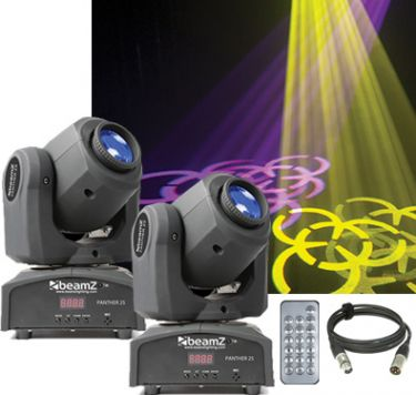 Moving Head pakke med 2 stk. Professionelle Panther 25 mini moving heads