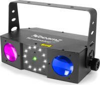 Terminator IV LED Double Moon med laser og strobe