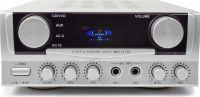 Stereo Hi-Fi Forstærker 2x50W med Display / Karaoke, Sølv
