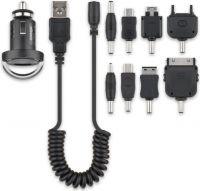 Cabstone - 12/24V biladapter - USB udtag, 5V / 1200mA + Stiksortiment