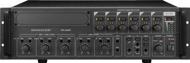 PA-forstærker 6 zoner PA-6600