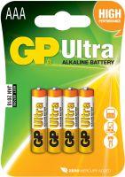 Alkaline batteries, AAA, 1.5V, packed 4/ blister