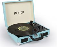 RP115 Record Player Briefcase Blue with Bluetooth