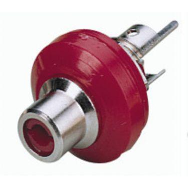 Phonobøsning rød T-706NI/RT