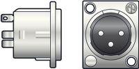 XLR 3-pol chassis han NEUTRIK® NC3MDL1
