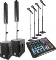 Power Dynamics PD812 Aktivt Array System 900w - inkl. mixer & mikrofoner