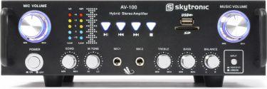 Stereo karaoke forstærker AV-100 / 2x50W MP3/USB/SD