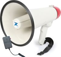 Megafon ekstra kraftig 40W, med sirene