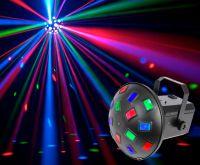 Mushroom 6x3W RGBAWP LED Lyseffekt m. Musikstyring - nok den mest klassiske af alle lyseffekter!