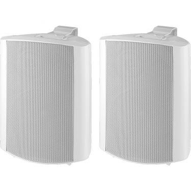 2-veis høyttalersett hvit MKS-64/WS