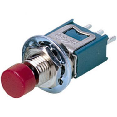 Mini trykknap rød MS-650/RT
