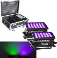 BeamZ Star-Color 240 Double Wash 2 x Star color 240 1x Flightcase - Pakketilbud