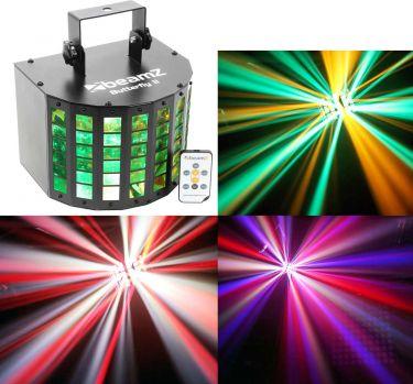 Lyseffekt Mini Butterfly Derby LED. Laver flot lysshow via indbygget musikstyring og fjernbetjening