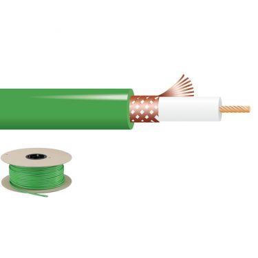 Videokabel 75 Ohm 100m grøn VCC-59