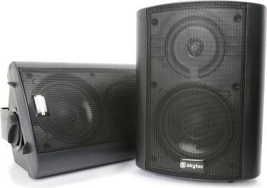 Aktivt højttalersæt 2-vejs 100W med vægbeslag, sort (sæt)
