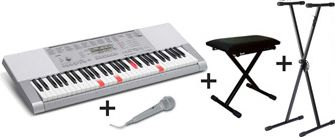 Casio LK-280 Lighting Keyboard - Pakketilbud