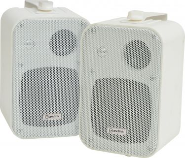 Stereo background speakers 30W white - pair