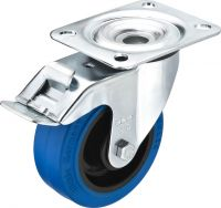 Hjul m/bremse blå GCBB-100B