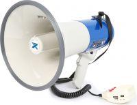 Professionel Megafon 60W med Sirene, anti-feedback, optage/afspille funktion mm.