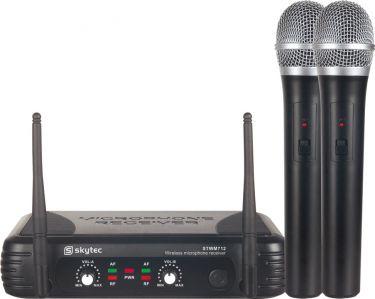 Dobbelt trådløst Mikrofonsæt STWM712 med 2 Håndholdte mikrofoner / rækkevidde 50m