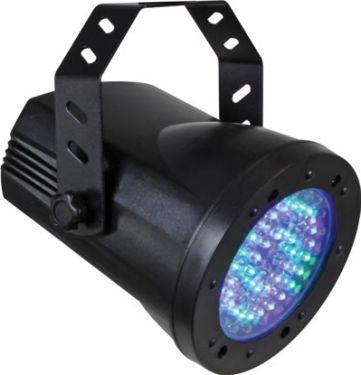HQ Power PAR36 LED pinspot 4 DMX kanaler, 76 RGB LEDs, strobo (5W)