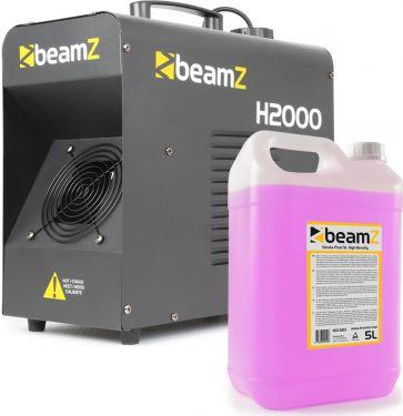 BeamZ H2000 Faze inkl. 5L. Long-Life Røgvæske - Pakkesæt