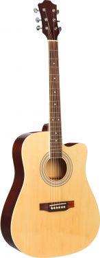 """Klassisk Western Guitar 41"""", akustisk m. stålstrenge og cut away"""