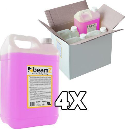 BeamZ Røgvæske High Density , Pakkesæt med 4 stk