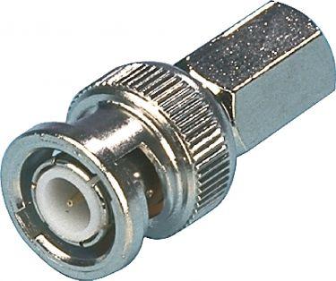 Valueline CCTV Security Video Balun BNC 6.8 mm Male Silver, BNC-001
