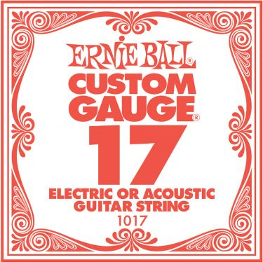 Ernie Ball EB-1017, Single .017 Plain Steel string for Eletric or