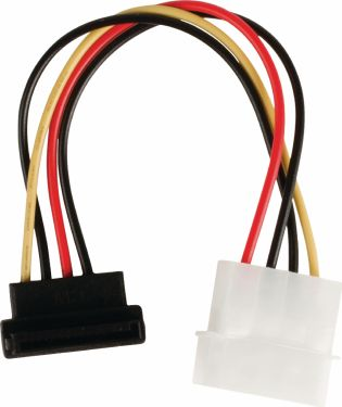 Valueline Internal Power Cable Molex Male - SATA 15-Pin Female 0.15 m, VLCP73505V015