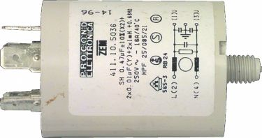 Fixapart Capacitor 0.47uf / 450 v + earth, W1-11306/A