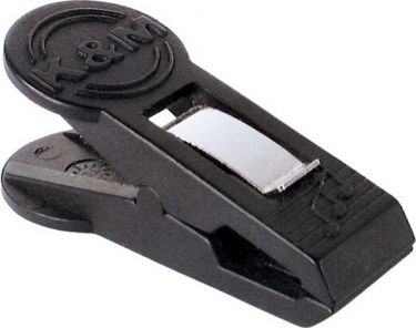 K&M nodeholder clips, sort, 4 stk.