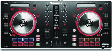 Numark Mixtrack Pro 3, All-in-one Controller Solution for Serato DJ