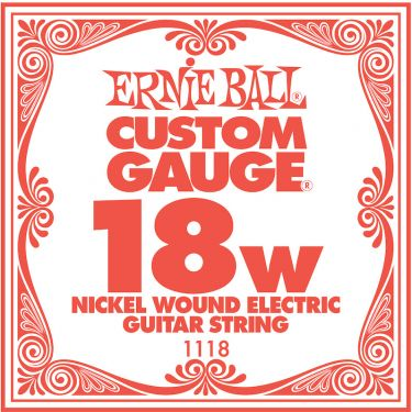 Ernie Ball EB-1118, Single .018 Nickel Wound string for Eletric gui
