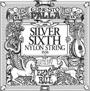 Ernie Ball EB-1536, Single E6 (6th) Ernesto Palla Silver Wound stri