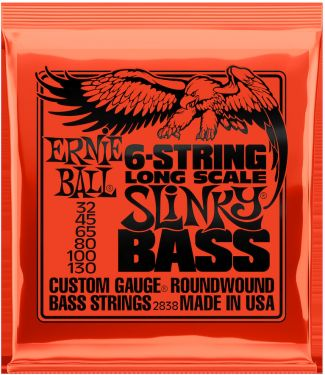 Ernie Ball EB-2838, 6-string Slinky Long Scale 32-130