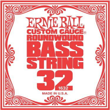 Ernie Ball EB-1632, Single .032 Nickel Wound string for Electric Bass