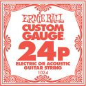 Musikinstrumenter, Ernie Ball EB-1024, Single .024 Plain Steel string for Eletric or