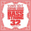 Musikinstrumenter, Ernie Ball EB-1632, Single .032 Nickel Wound string for Electric Bass