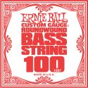 Bas Strenge, Ernie Ball EB-1697, Single .100 Nickel Wound string for Electric Bass