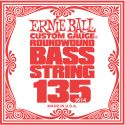 Musikinstrumenter, Ernie Ball EB-1614, Single .135 Nickel Wound string for Electric Bass