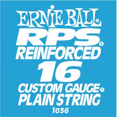 Ernie Ball EB-1036, Single .016 RPS Reinforced Plain Steel string f