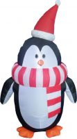 Udsmykning & Dekorationer, Europalms Inflatable figure Penguin Fred, 120cm
