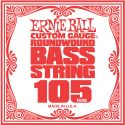 Musikinstrumenter, Ernie Ball EB-1698, Single .105 Nickel Wound string for Electric Bass
